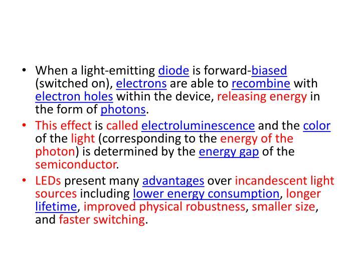When a light-emitting