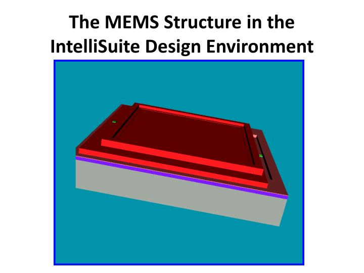 The MEMS Structure in the
