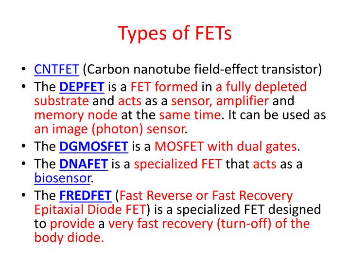 Types of FETs