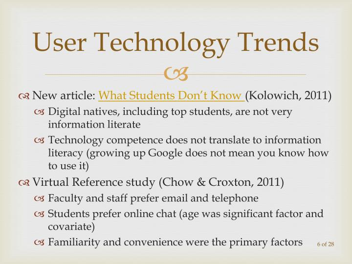 User Technology Trends