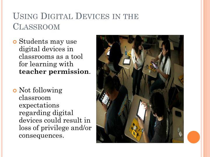 Using Digital Devices in the Classroom