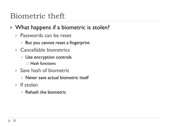 Biometric theft