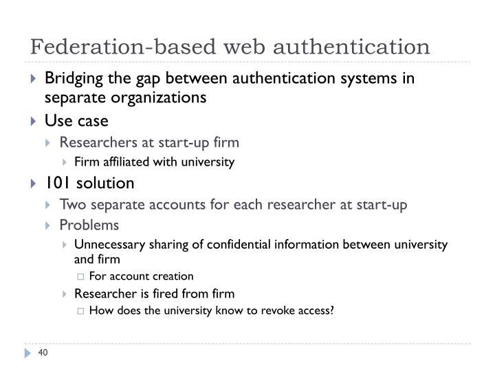 Federation-based web authentication
