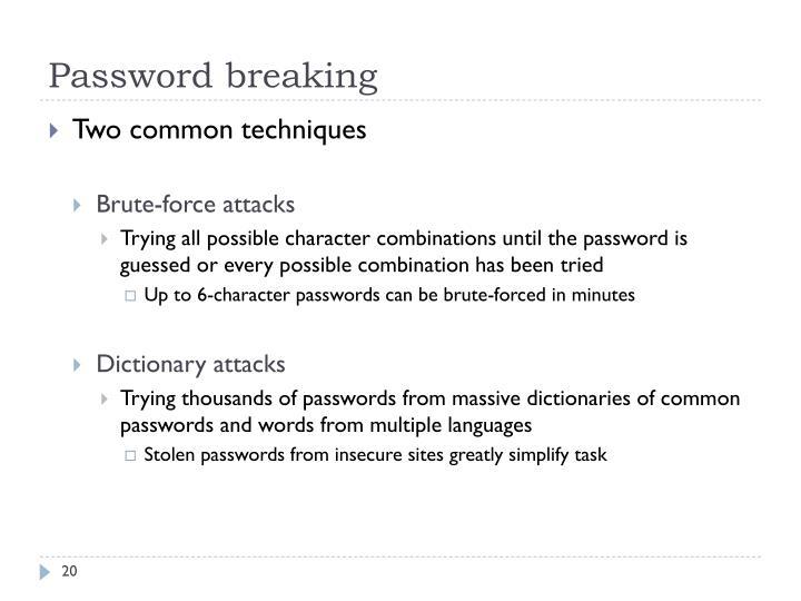 Password breaking