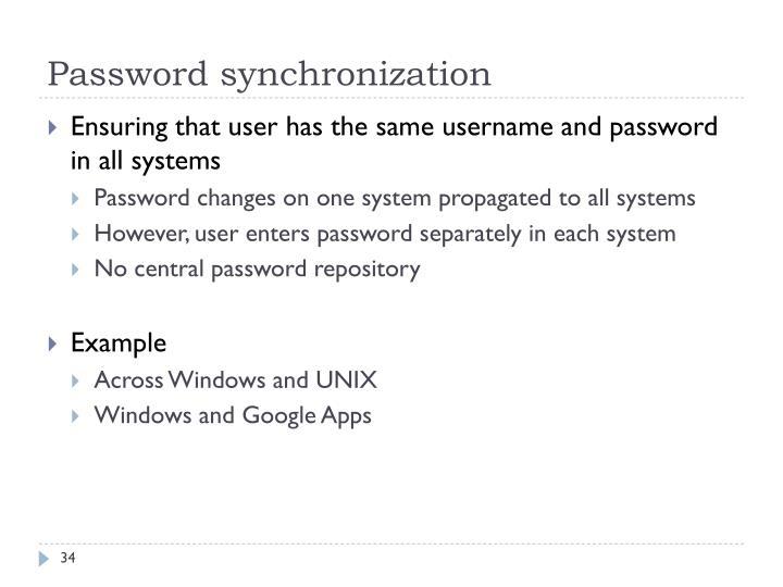 Password synchronization