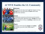 active enables the ll community