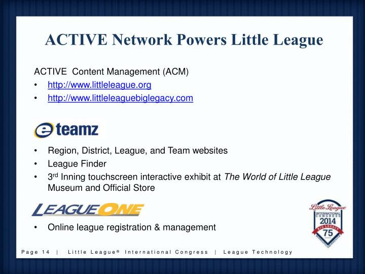ACTIVE Network Powers Little League