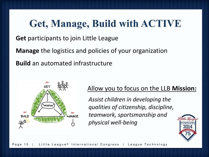 Get, Manage, Build with ACTIVE