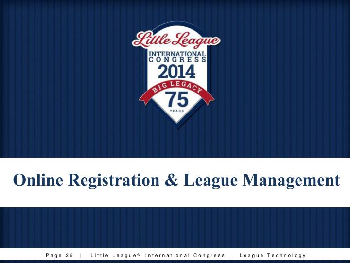Online Registration & League Management
