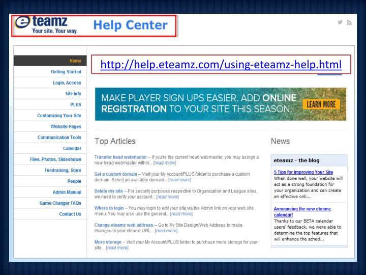 http://help.eteamz.com/using-eteamz-help.html