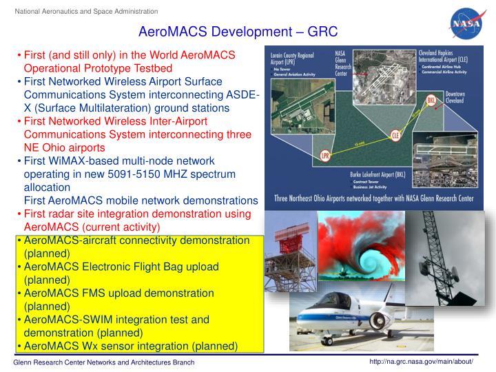 AeroMACS Development –