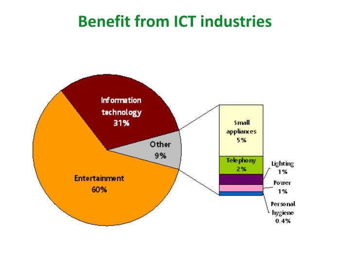 Benefit from ICT industries