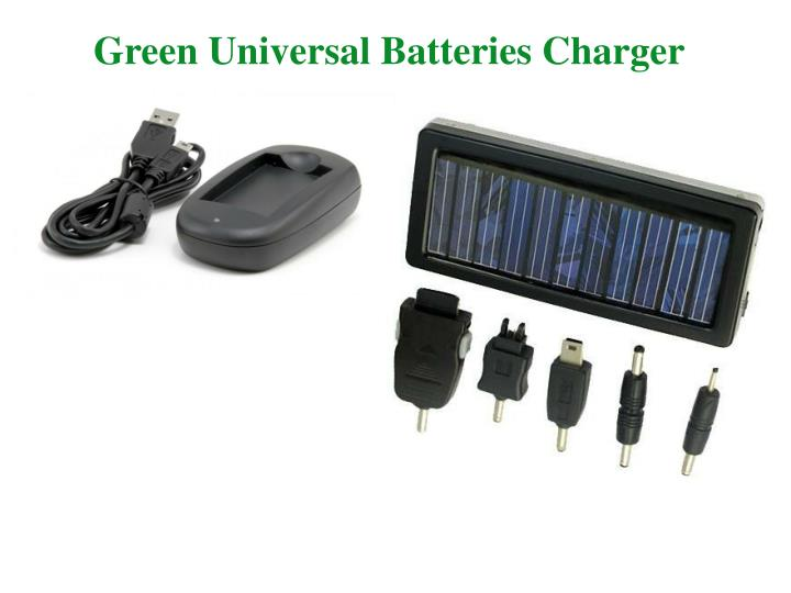 Green Universal Batteries Charger
