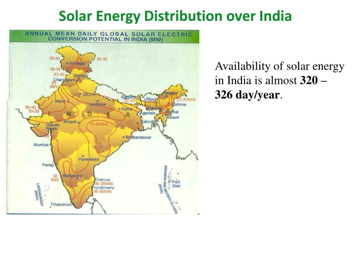 Solar Energy Distribution over India