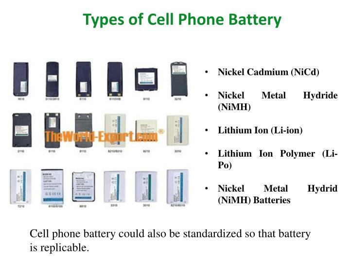 Types of Cell Phone Battery