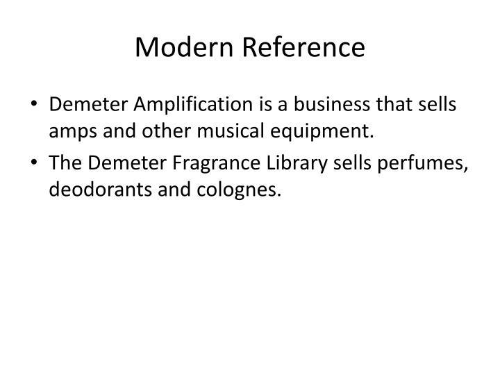 Modern Reference