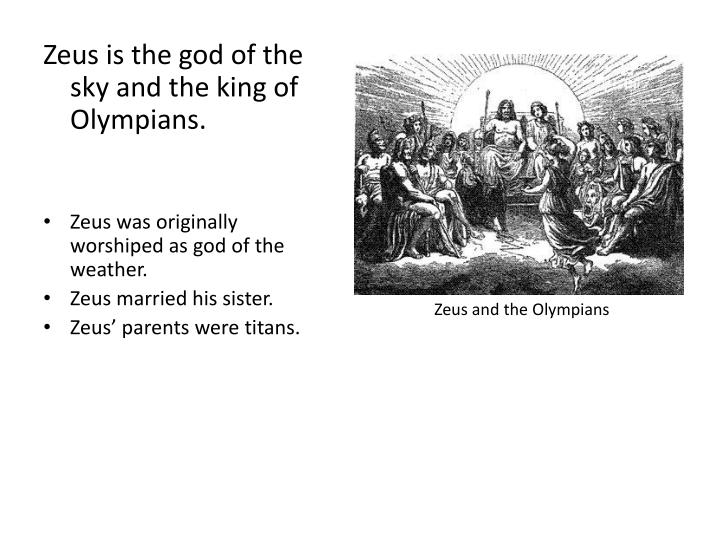 Zeus and the Olympians
