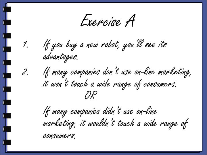 Exercise A