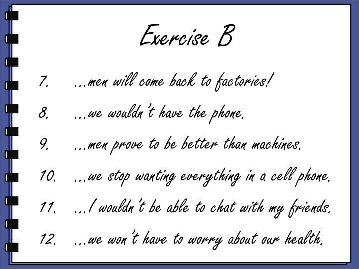 Exercise B