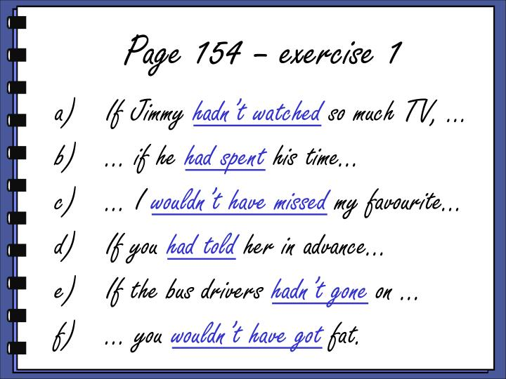 Page 154 – exercise 1