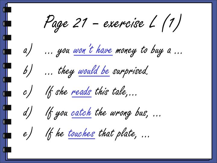 Page 21 – exercise L (1)