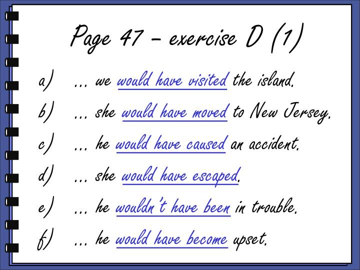 Page 47 – exercise D (1)