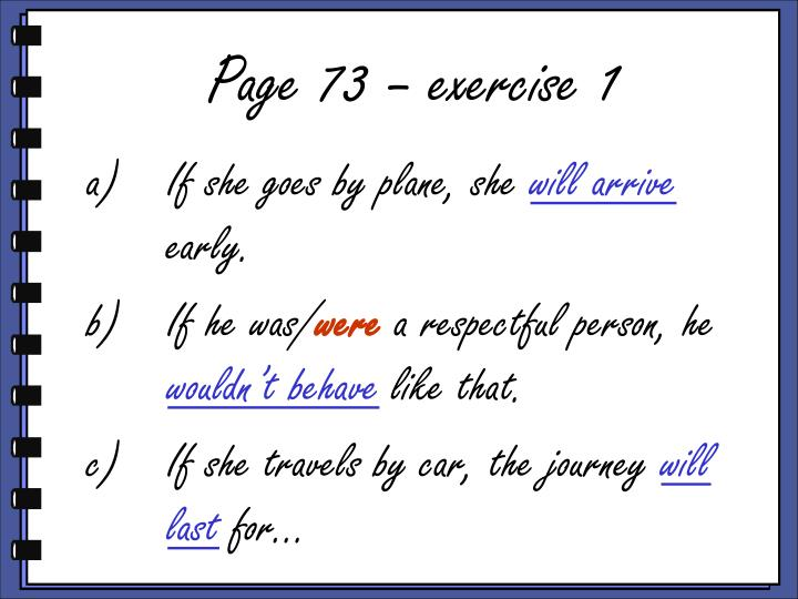 Page 73 – exercise 1
