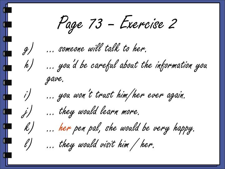 Page 73 – Exercise 2