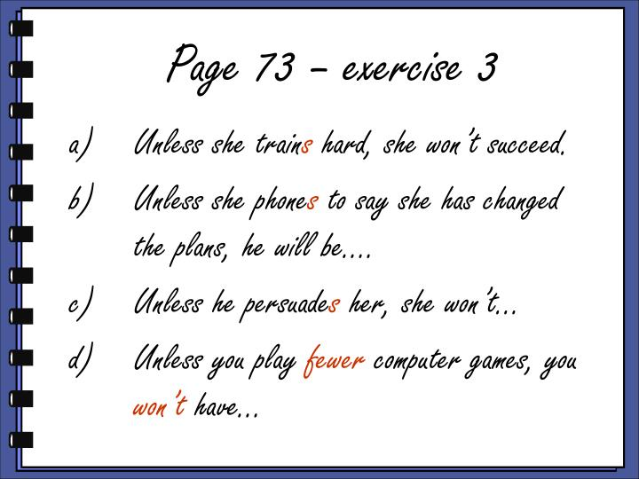 Page 73 – exercise 3