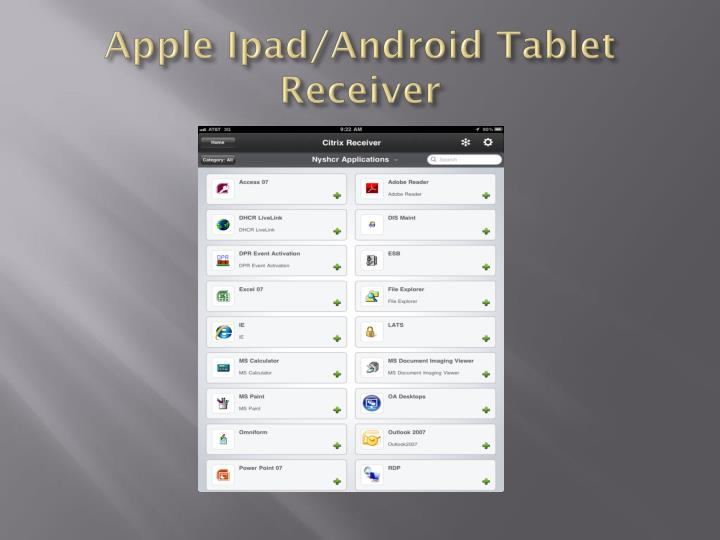 Apple Ipad/Android Tablet