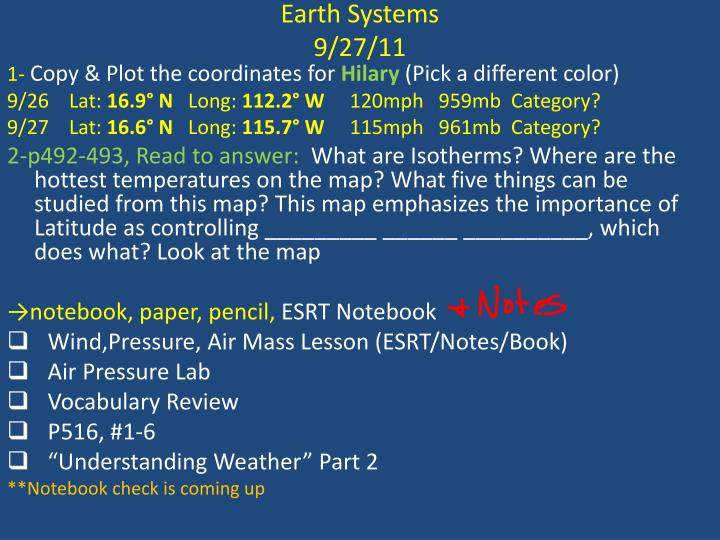 Earth Systems