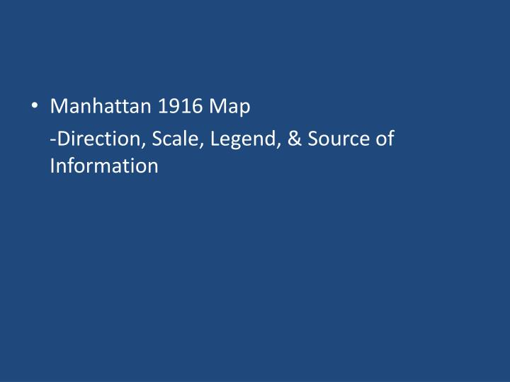 Manhattan 1916 Map