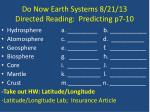 do now earth systems 8 21 13 directed reading predicting p7 10