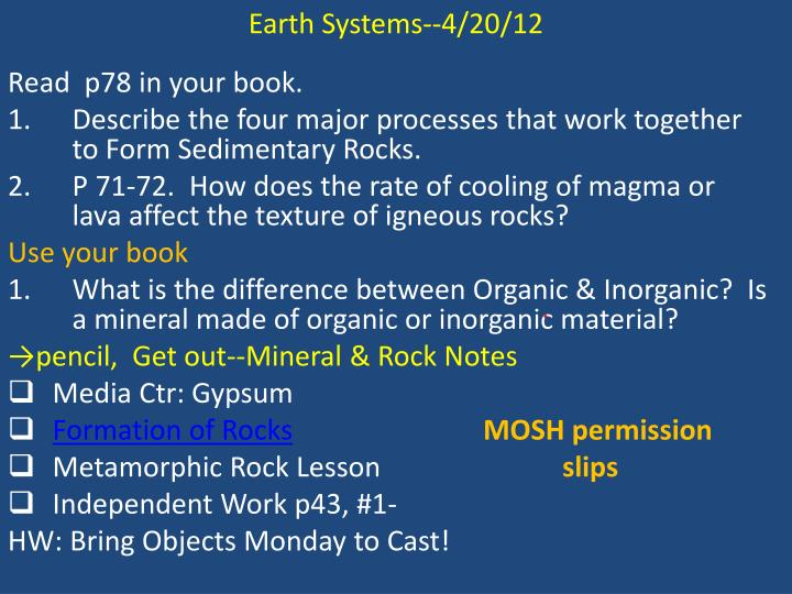 Earth Systems--4/20/12