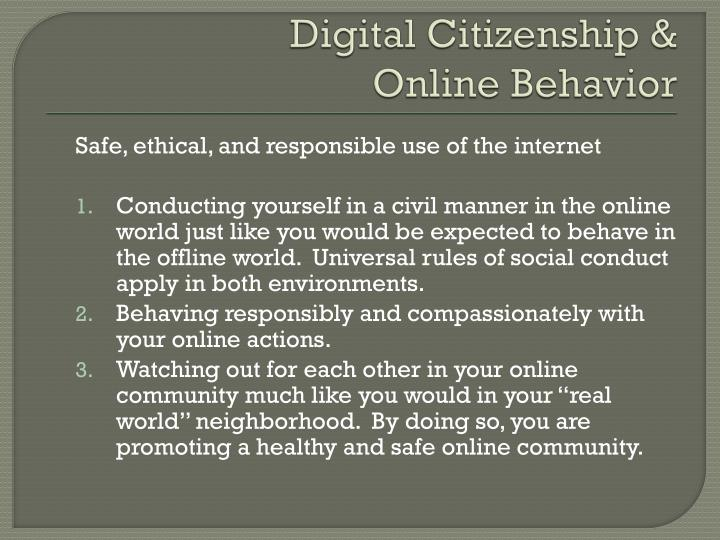 Digital Citizenship &
