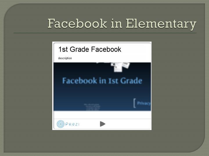Facebook in Elementary