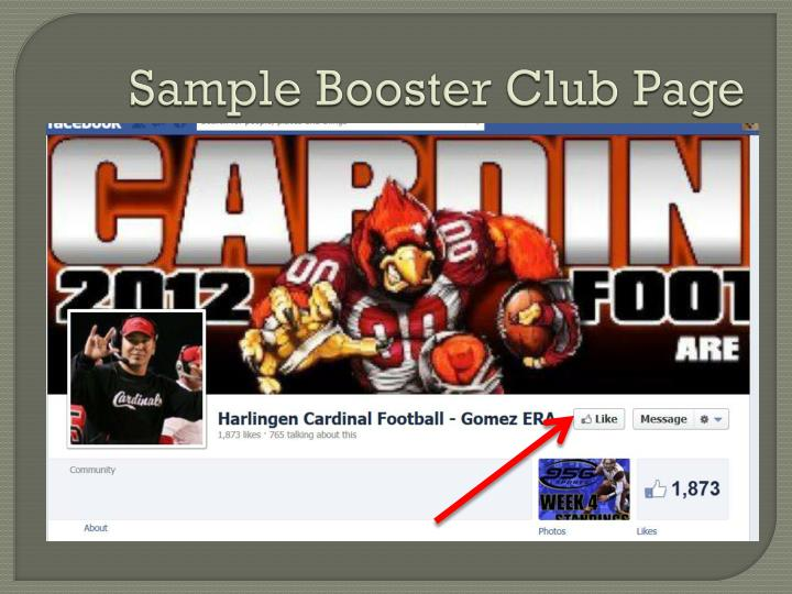 Sample Booster Club Page