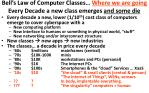 bell s law of computer classes where we are going every decade a new class emerges and some die