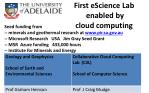 first escience lab enabled by cloud computing