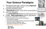 four science paradigms