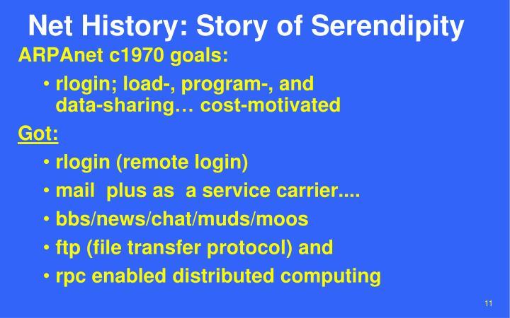 Net History: Story of Serendipity