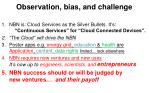 observation bias and challenge