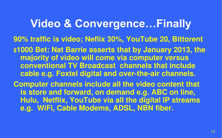 Video & Convergence…Finally