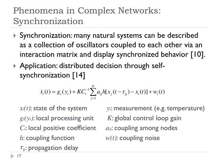 Phenomena in Complex