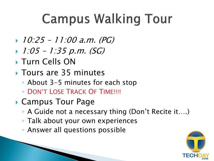 Campus Walking Tour