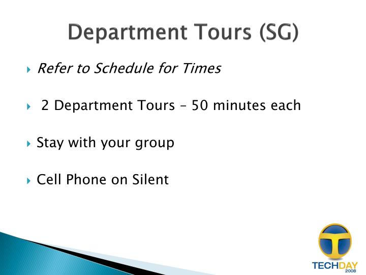 Department Tours (SG)