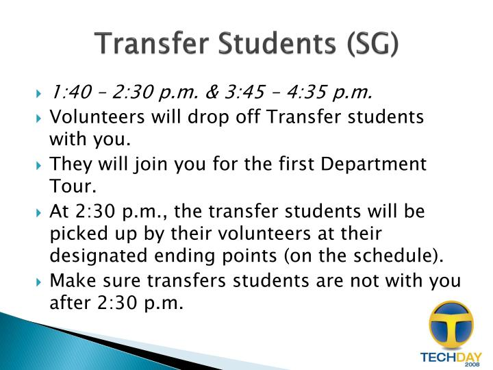Transfer Students (SG)