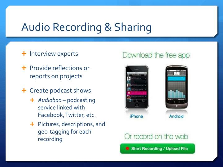 Audio Recording & Sharing