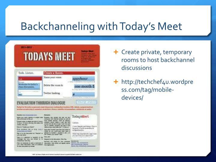 Backchanneling