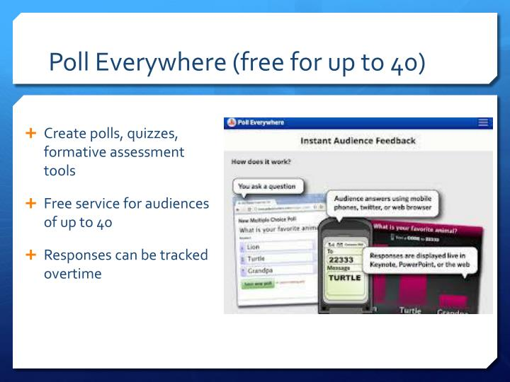 Poll Everywhere (free for up to 40)